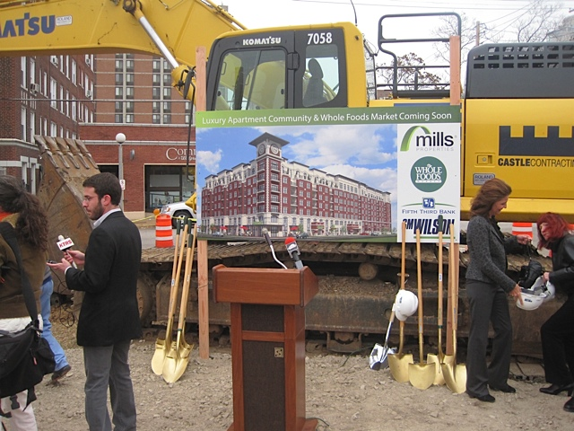 Whole Foods groundbreaking - gold shovels