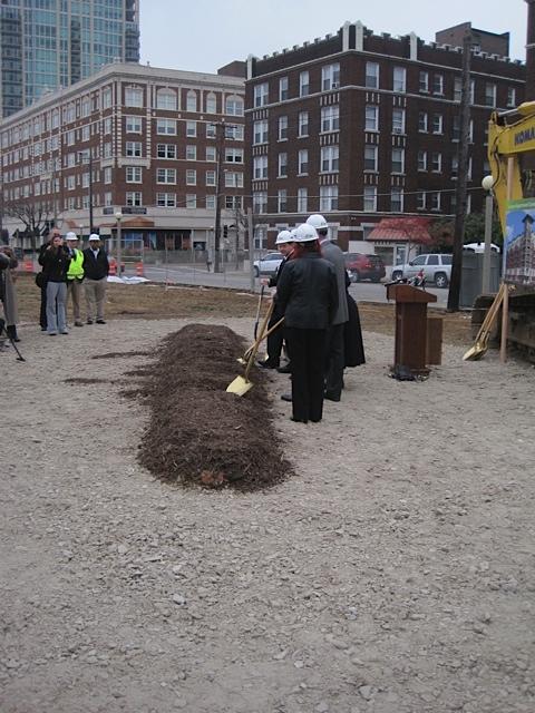 Whole Foods groundbreaking - shovels